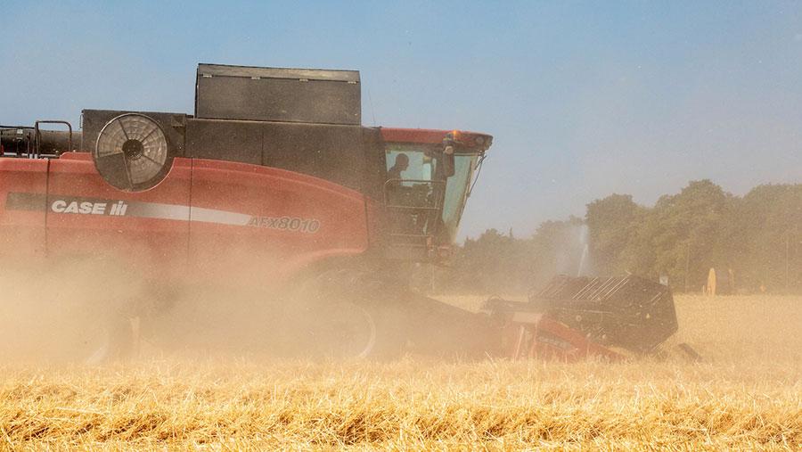 Winter barley harvest 2018 © Tim Scrivener
