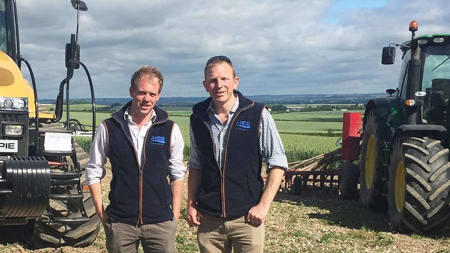 Tom Mead (right) and  David Hurst(left) are joint hosts of the new Duxford Monitor Farm.