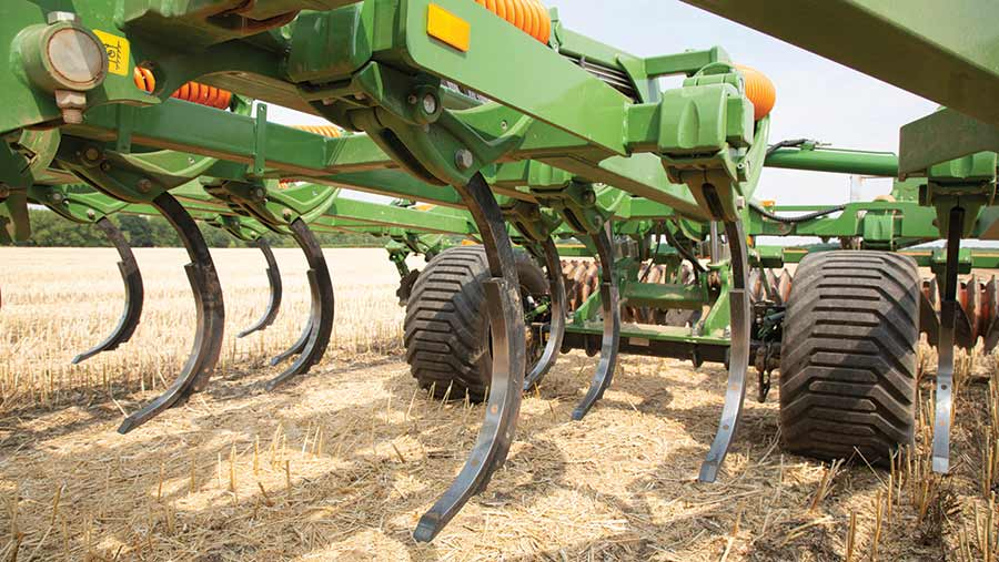 Closeup of cultivator tines