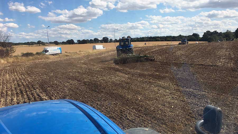 Will Sargent cultivating land