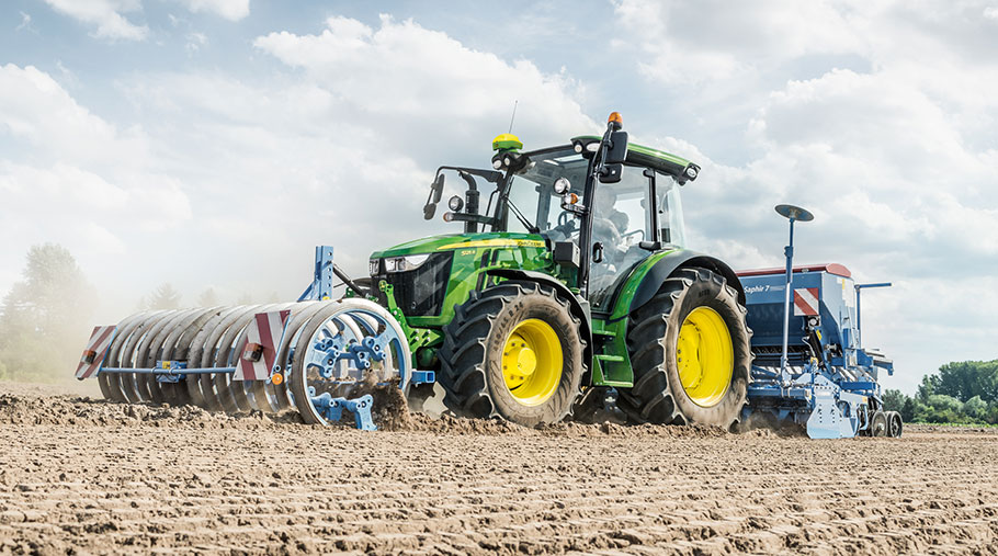 John Deere 5R Series tractor with AutoTrac