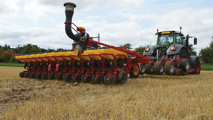 OSR is drilled in a field
