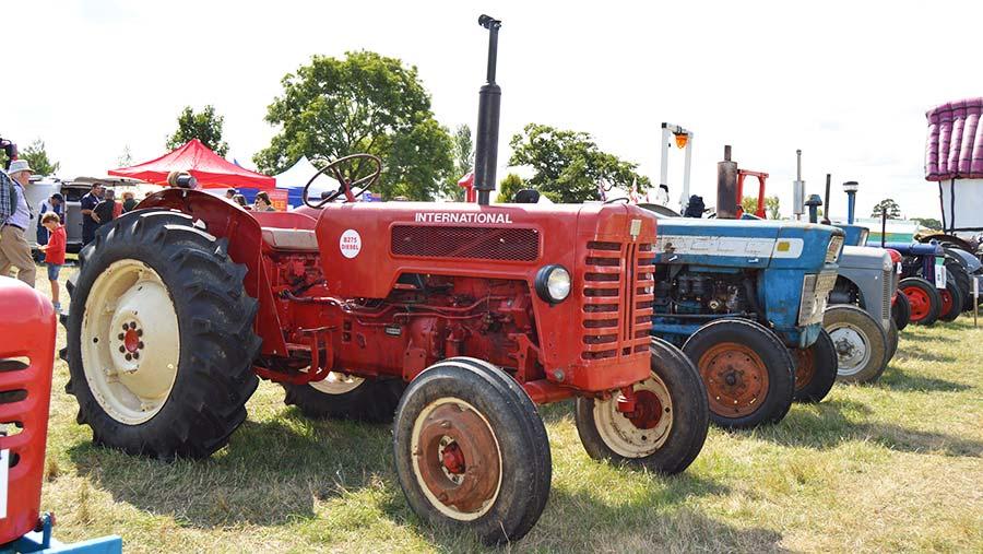 Classic tractor at the Bucks Show © Hayley Parrott