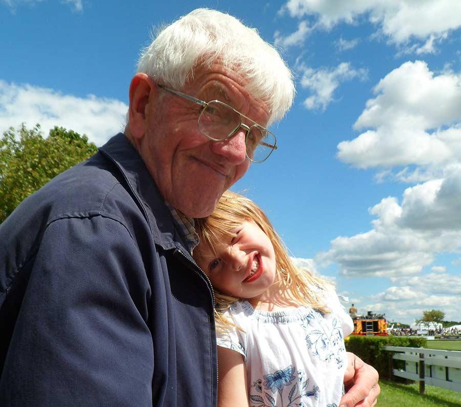 Grandad and grand daughter