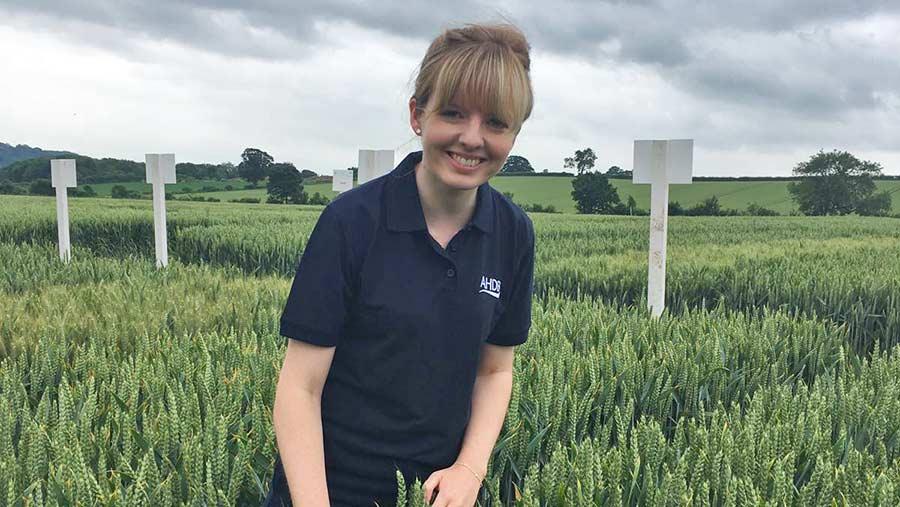 Sarah-Jane in a field