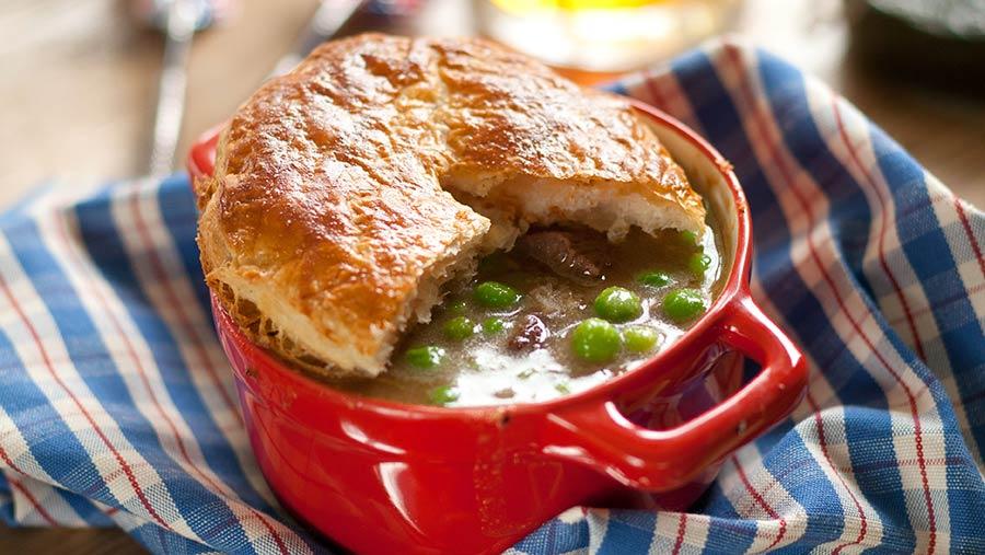 Shrewsbury lamb pie © Yes Peas