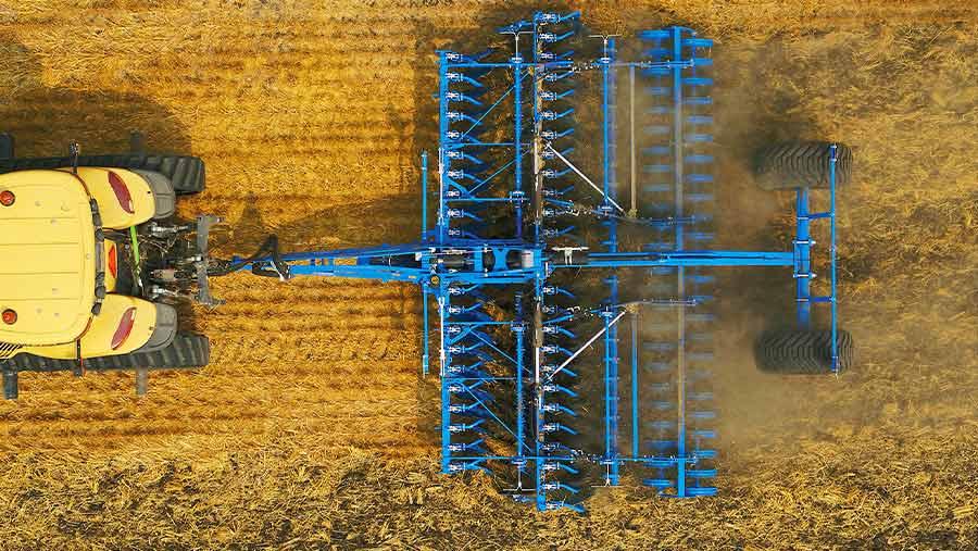 Aerial view of Lemken Rubin