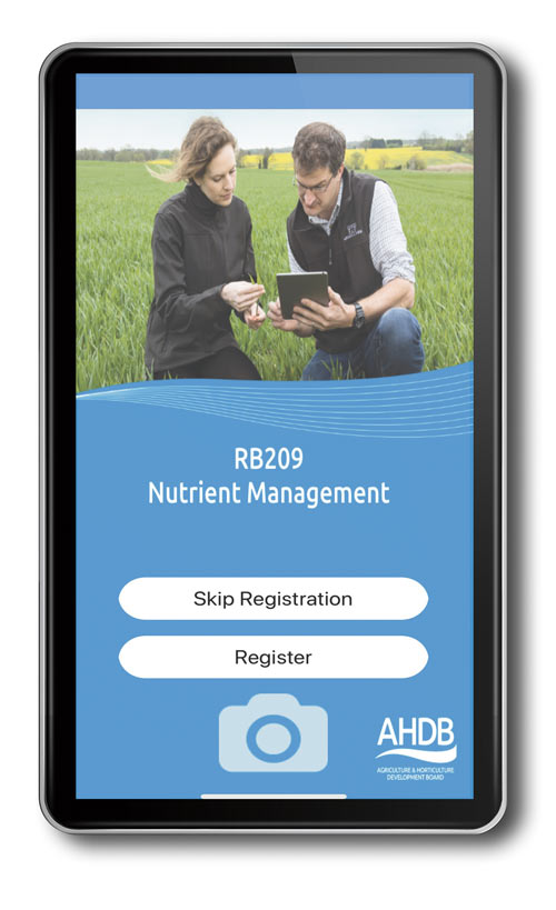 AHDB Nutrient Management Guide app