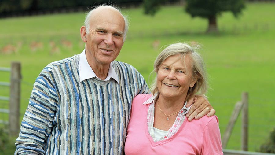 Vince Cable and his wife Rachel