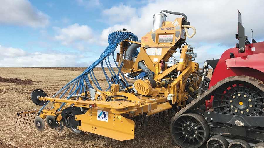 Alpego six-metre power harrow drill