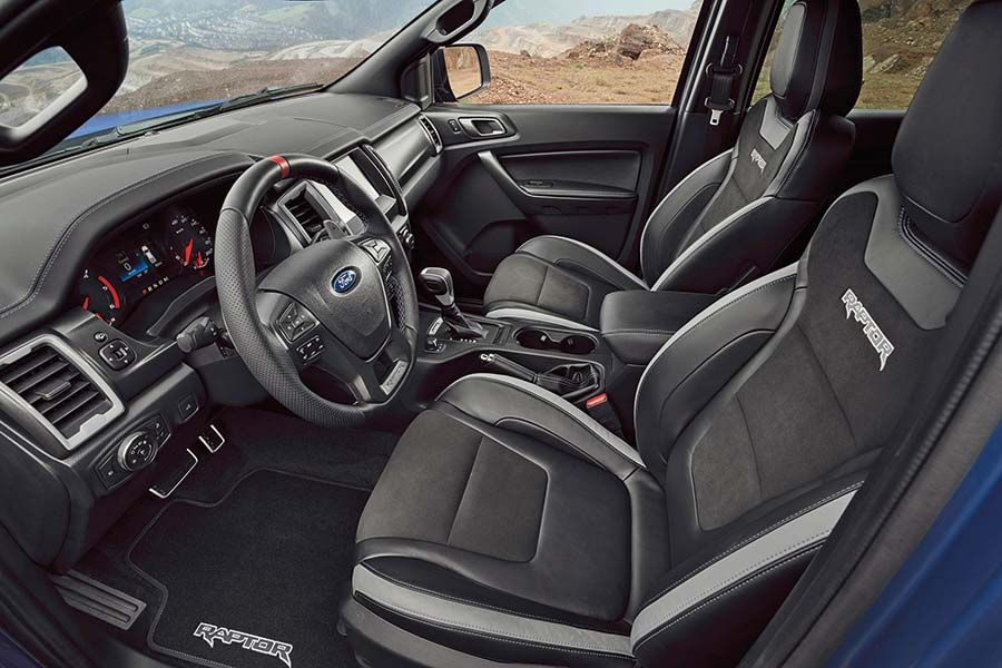 Interior of Ford Raptor pickup
