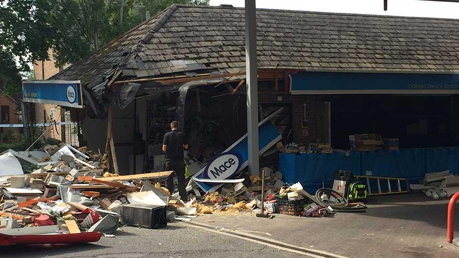 Damaged Mace store