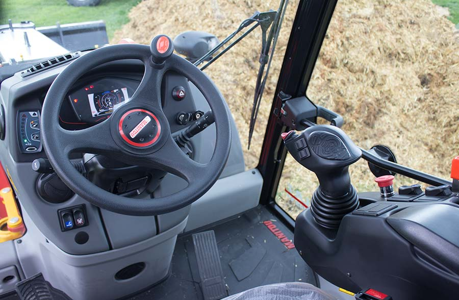 Inside the cab of the Manitou MLA-T