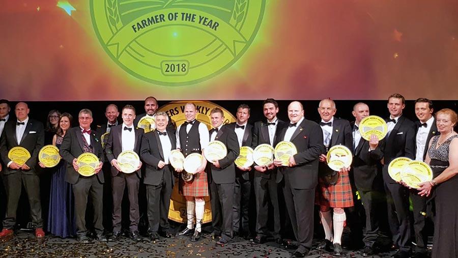 Farmers Weekly Awards 2018 winners group photo