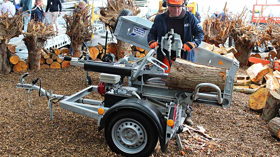 Ifor Williams log splitter