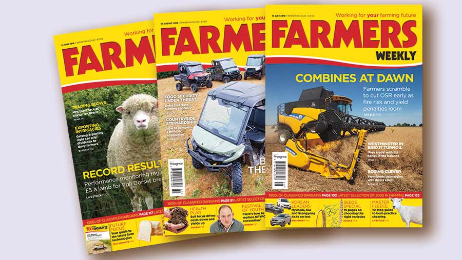 A selection of Farmers Weekly magazine covers