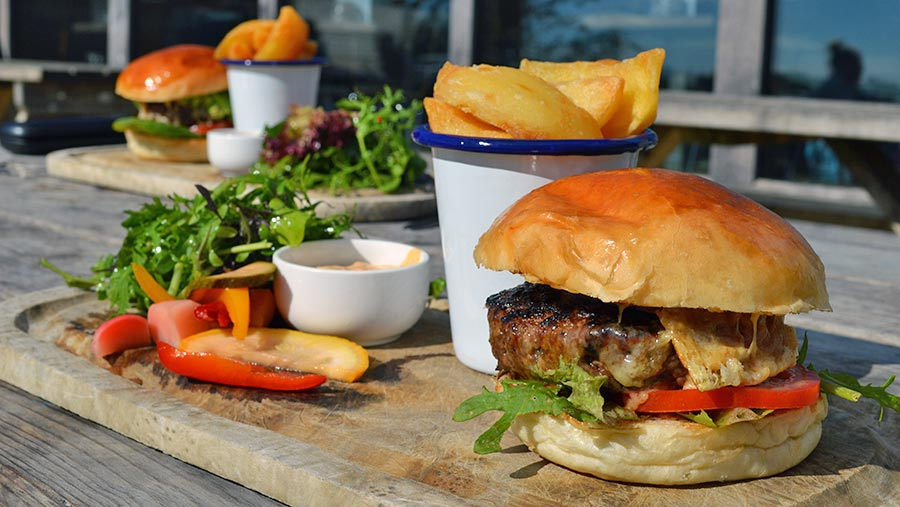 Hartley Farm burger © David Jones/RBI