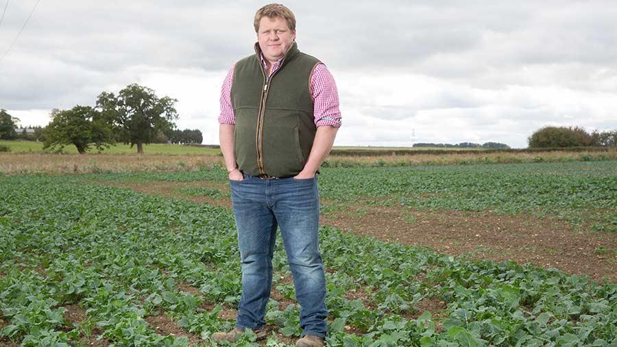 Sam Paske in a field