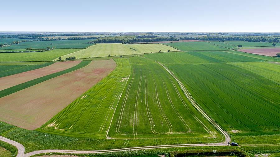 Laxton Estate aerial view
