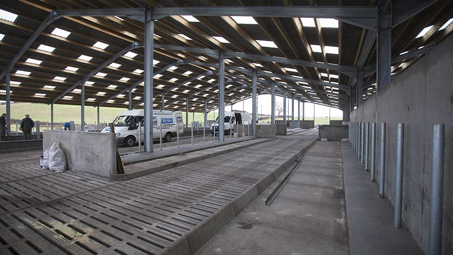 A farm shed under construction