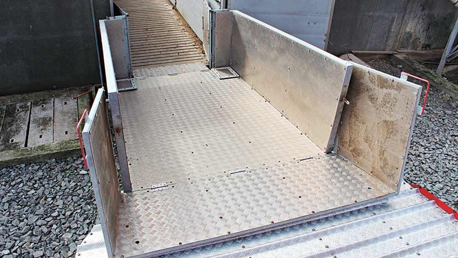 Cyril Patterson's steel pig ramp