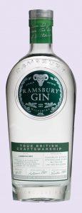 A bottle of Ramsbury gin
