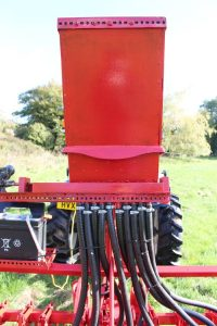 Seed hopper on the drill