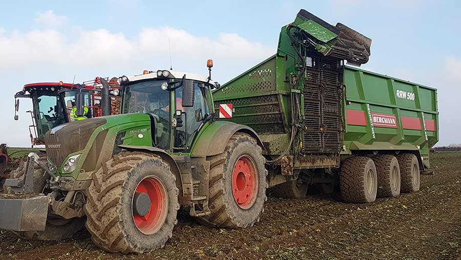 Bergmann sugar beet chaser in a field