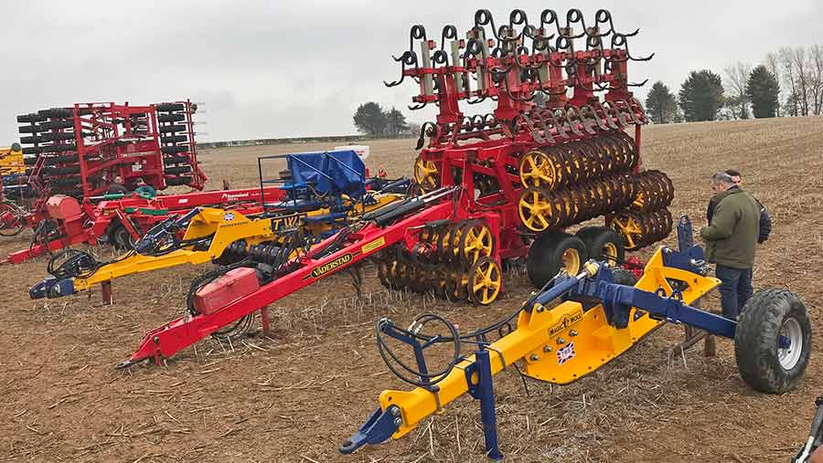 TWB mole plough and Vaderstad Rexius