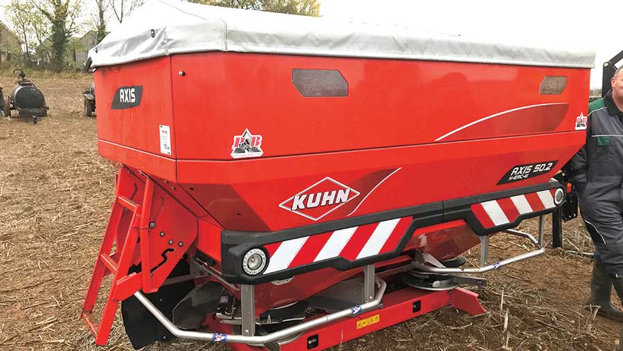 Kuhn Axis 50.2 fertiliser spreader