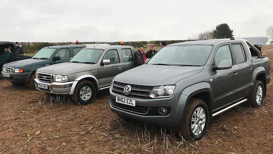 VW Amarok and two Ford Ranger pickups