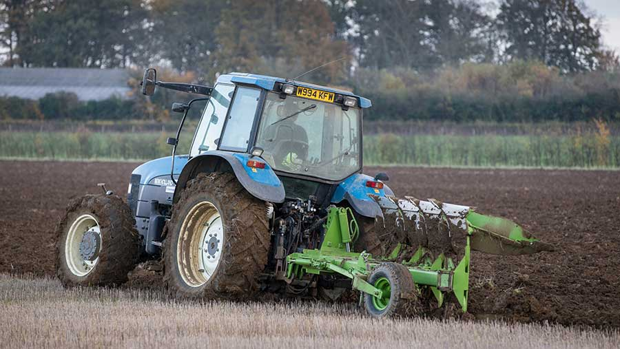 Winter ploughing in Lincolnshire