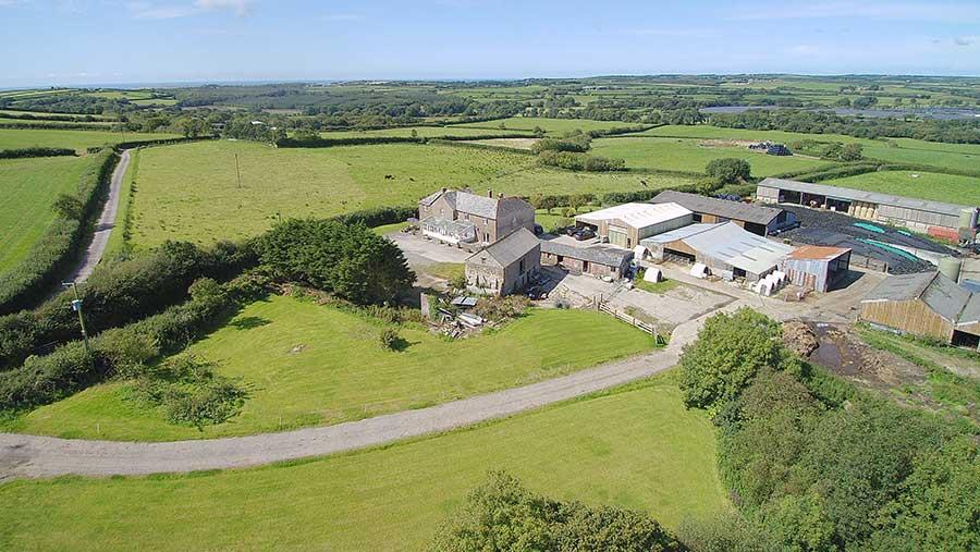 Aerial view of Norton Farm