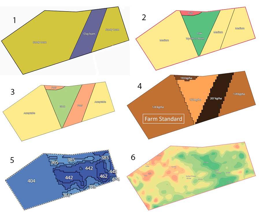 Precision farming maps
