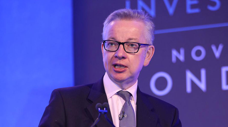Michael Gove speaking at the CLA conference