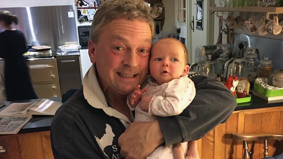 David Sargent with granddaughter Siena