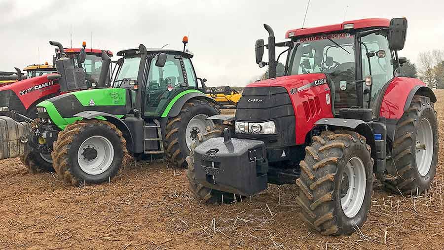 Case Puma 160 and Deutz 620 tractors