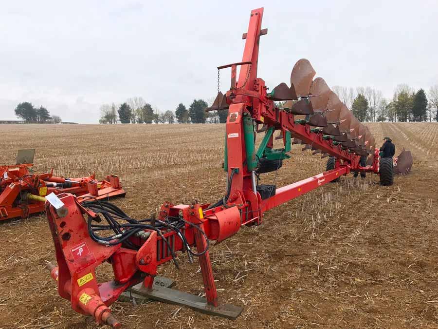 Kverneland 12-furrow plow
