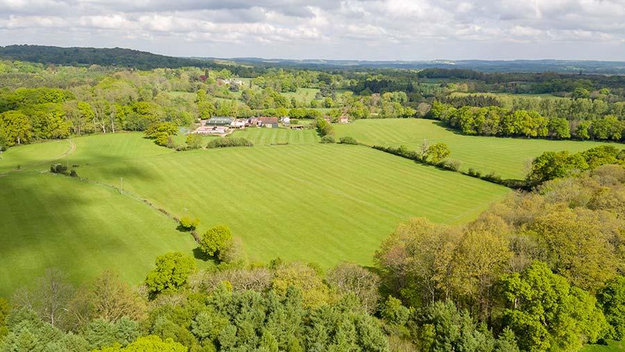 Aerial view of Home Farm