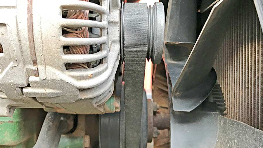 An alternator belt