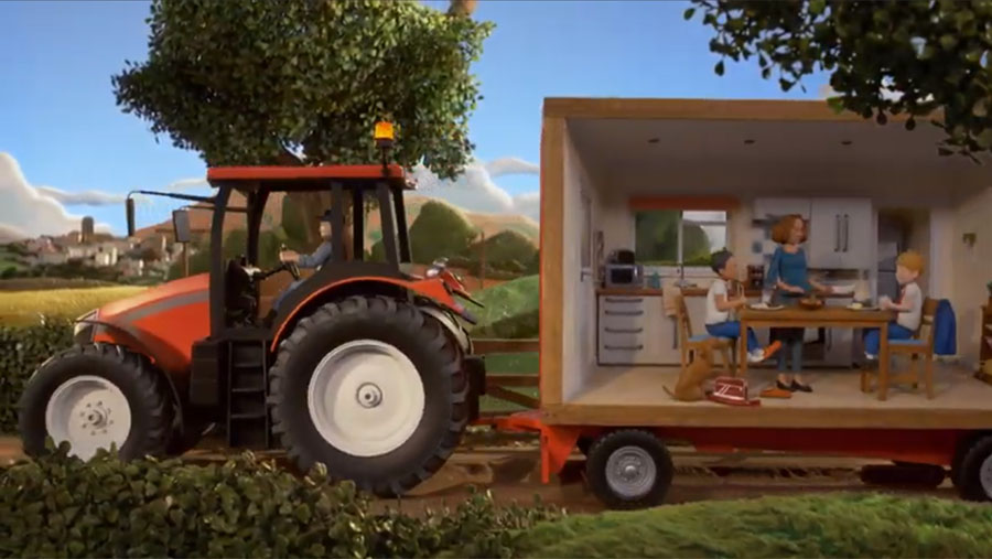 Screenshot of Red Tractor TV ad