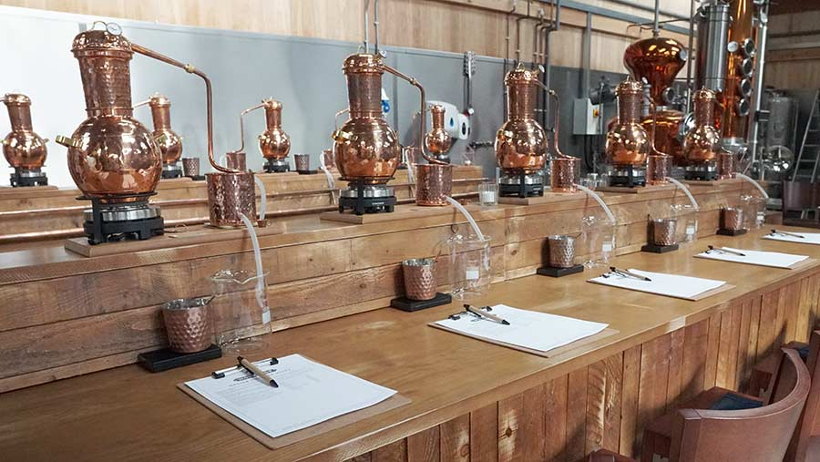 Area to make your own gin on farm
