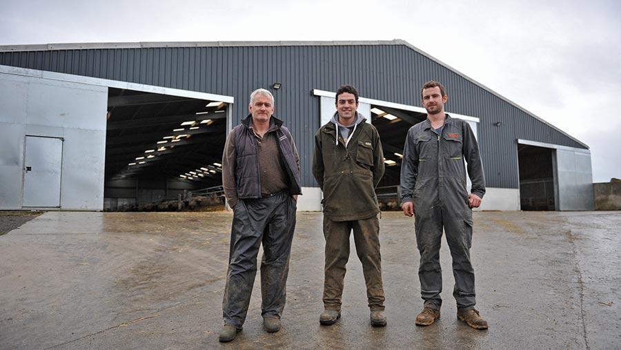 Alan, Wiliam and Dafydd Williams