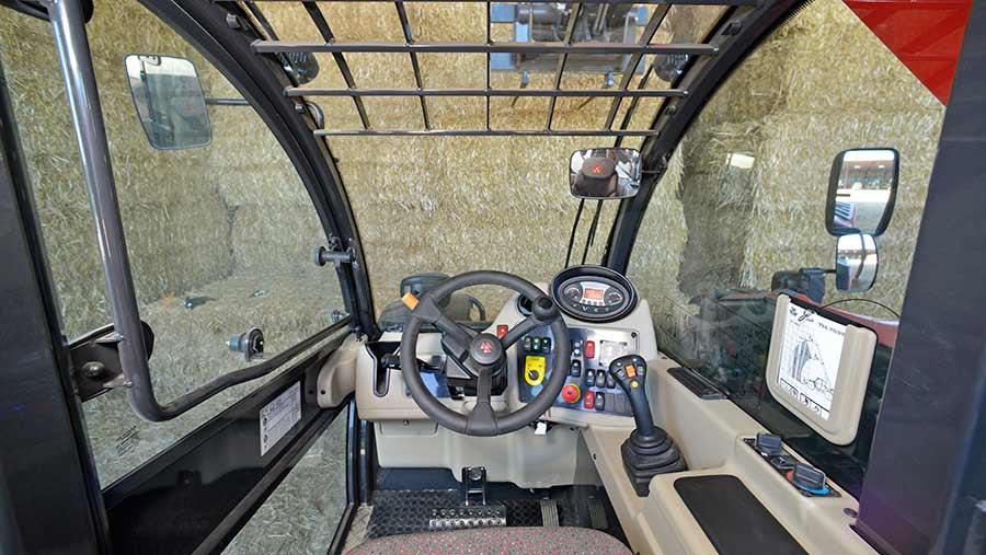 Massey Ferguson telehandler cab