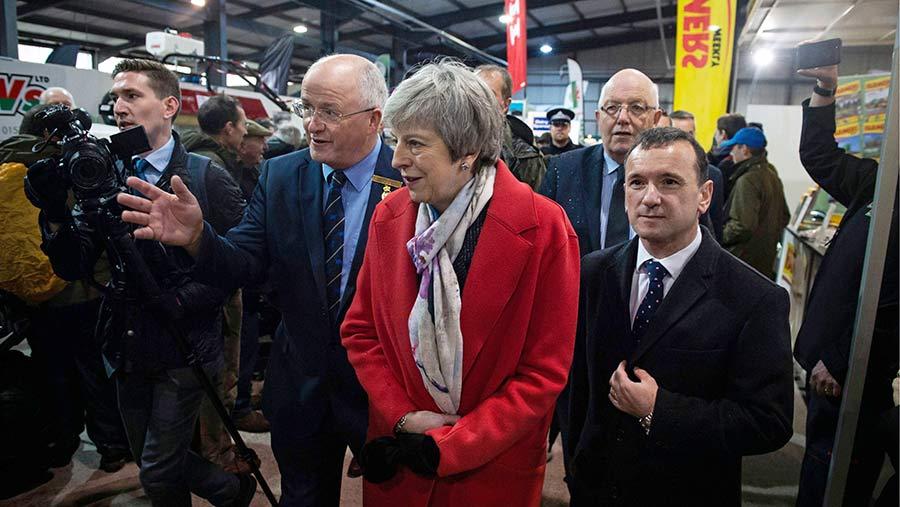 Theresa May visits the Royal Welsh Winter Fair