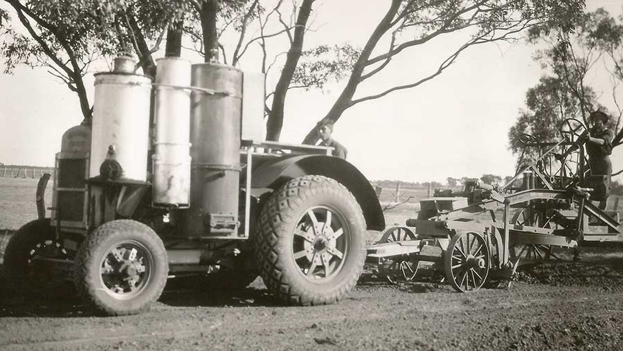 Three gas generators fitted to an Australian farmer's Ronaldson- Tippet Super Drive
