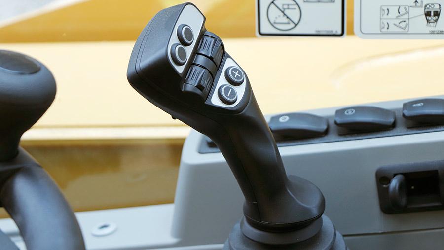 Caterpillar telehandler joystick
