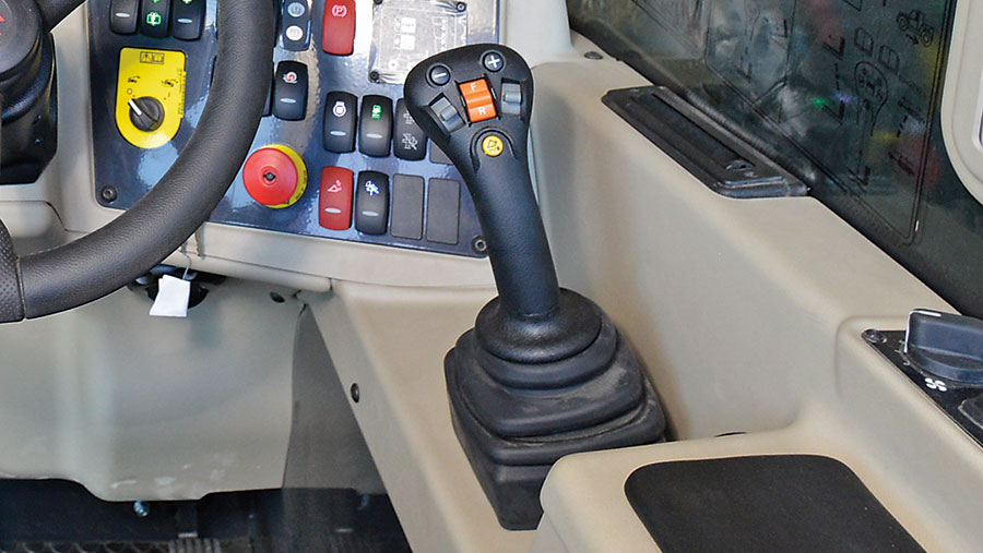 Massey Ferguson telehandler controls