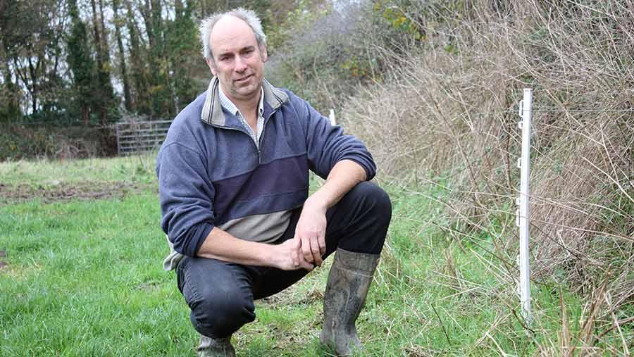 David Carbis in field