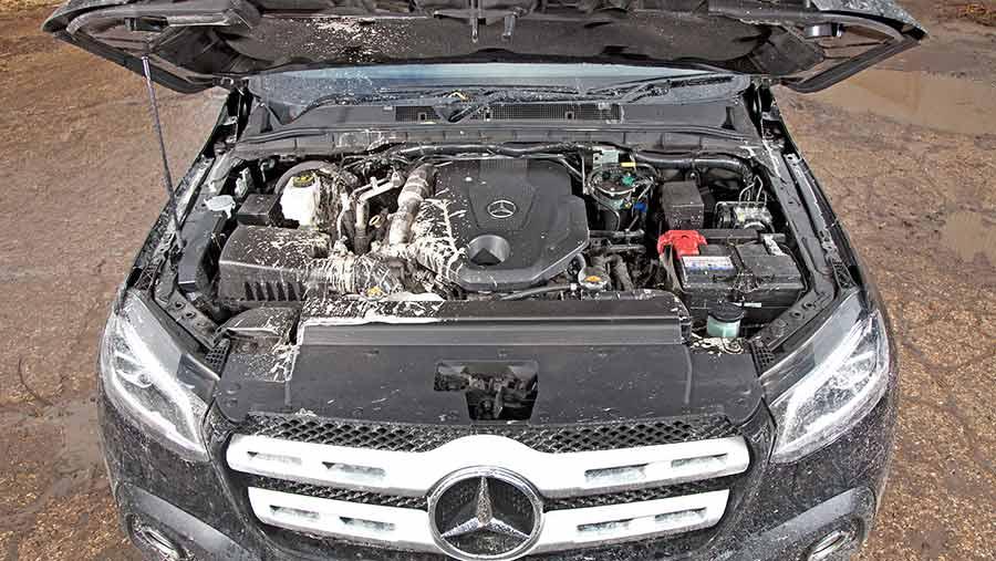 Mercedes Benz X250d engine